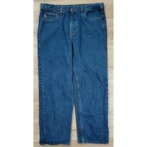 Carhartt Mens Relaxed Straight Blue Jeans Size 38
